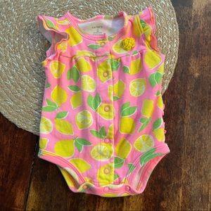 5/$20 Carter's pink lemon one piece body suit